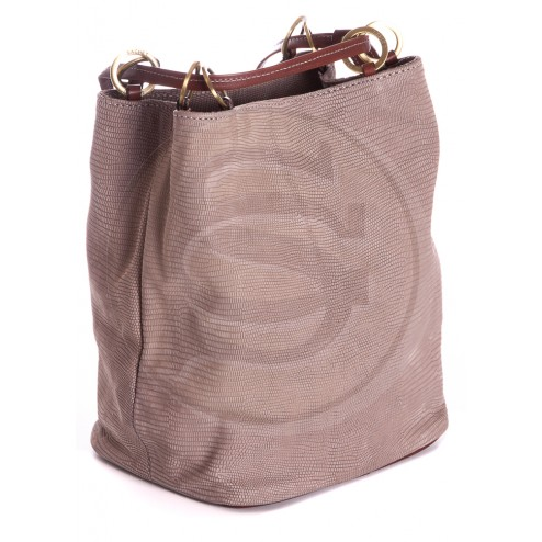 Кожаная сумка Chloe (светло-серая)