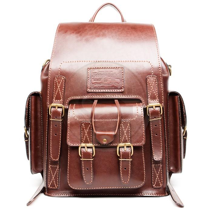 Рюкзак из кожи коричневый