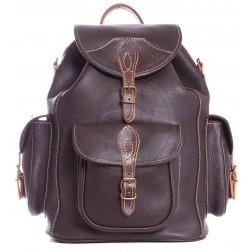 Кожаный рюкзак Middle (темно-коричневый)