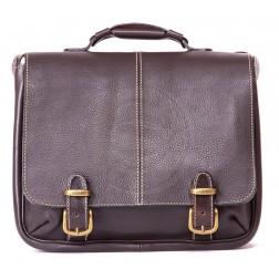 Кожаный портфель Sorbonna (темно-коричневый)