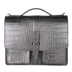 Кожаный портфель  Nuvel New (чёрный)