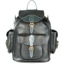 Кожаный рюкзак Middle (чёрный)