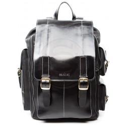 Кожаный рюкзак Следопыт (чёрный)