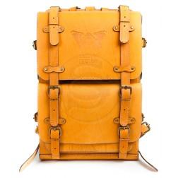 Кожаный рюкзак Legion (желтый)