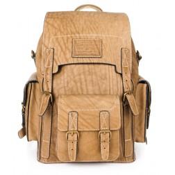 Кожаный рюкзак Camel (песочный)
