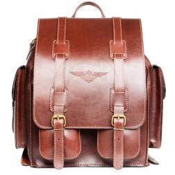 Кожаный рюкзак Пехотинец (коричневый)