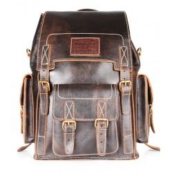 Кожаный рюкзак Camel (эксклюзив)
