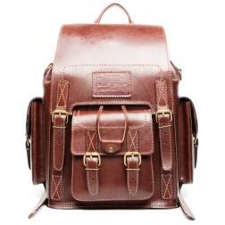 Кожаный рюкзак Camel (коричневый)