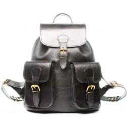 Кожаный рюкзак Classic-2 (чёрный)