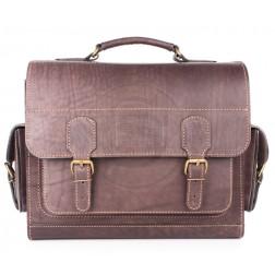 Кожаный портфель Voyager (коричневый)