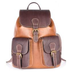 Кожаный рюкзак Classic-2 (коричневый)