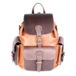 Кожаный рюкзак Classic-3 (коричневый)