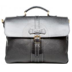 Кожаный портфель Light (чёрный)