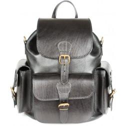 Кожаный рюкзак Classic-3 (черный)