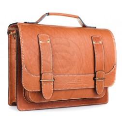 Кожаный портфель Frenchmen (рыжий)
