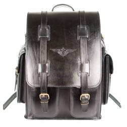 Кожаный рюкзак Пехотинец (чёрный)