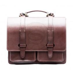 Кожаный портфель Single New (коричневый)