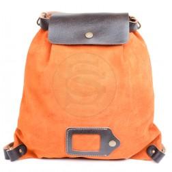 Кожаный рюкзак Military (оранжевый)