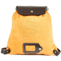 Кожаный рюкзак Military (желтый)