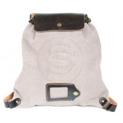 Кожаный рюкзак Military (серый)