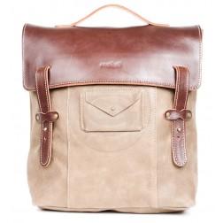 Кожаный рюкзак Schoolchild (коричневый)