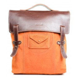 Кожаный рюкзак Schoolchild (рыжий)