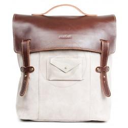 Кожаный рюкзак Schoolchild (песочный)