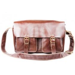 Кожаная сумка Dendy (темно-коричневая)
