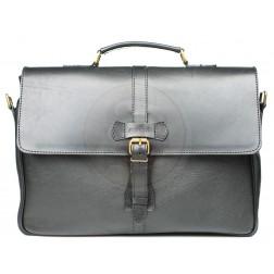 Кожаный портфель Oxford (чёрный)