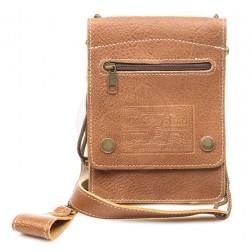 Кожаная сумка для документов Badge-1 (коричневая)