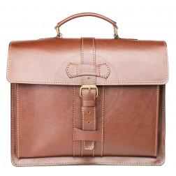Кожаный портфель Premiere (коричневый)