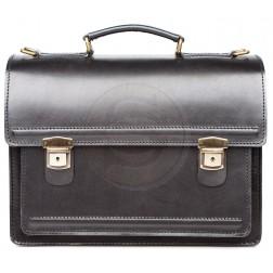 Кожаный портфель Optima-1 (чёрный)