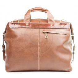 Кожаная дорожная сумка Modern (коричневая)