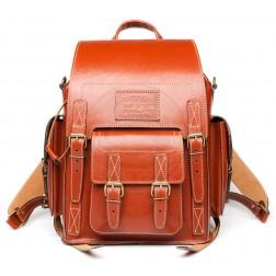 Кожаный рюкзак Camel (рыжий)