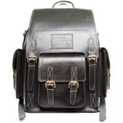 Кожаный рюкзак Camel (чёрный)
