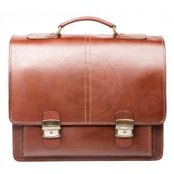 Кожаный портфель Advokat-2 (коричневый)