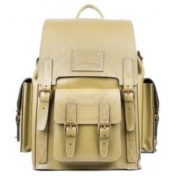 Кожаный рюкзак Camel (оливковый)