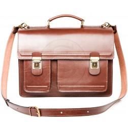 Кожаный портфель Optima-2 (коричневый)