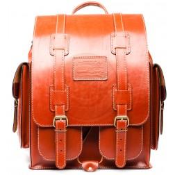 Кожаный рюкзак Пехотинец (рыжий)