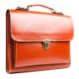 Кожаный портфель Mini (рыжий)