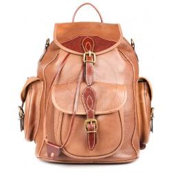 Кожаный рюкзак Middle (коричневый)