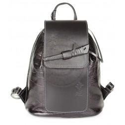 Кожаный рюкзак Geisha (чёрный)