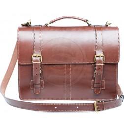 """Кожаный портфель """"Overture"""" (коричневый)"""