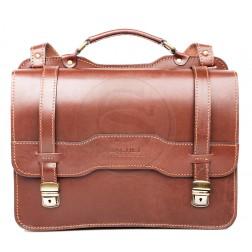 Кожаный портфель Avantage (коричневый)