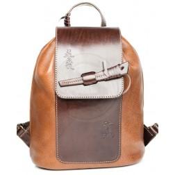 Кожаный рюкзак Geisha (коричневый)