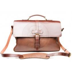Кожаный портфель Oxford (коричневый)