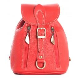 Кожаный рюкзак Kolibri (красный)