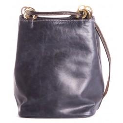 Кожаная сумка Chloe (синяя)