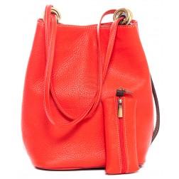 Кожаная сумка Chloe (красная)